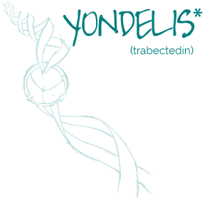 YONDELIS (trabectedin) is a marine derived antitumoral